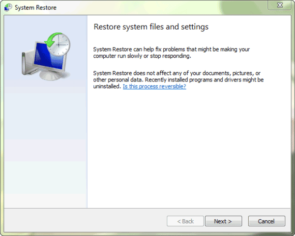 system restore program