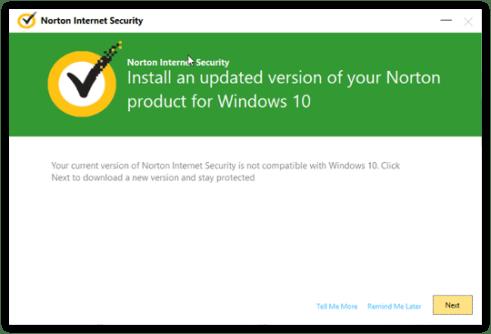upgrade Norton Security